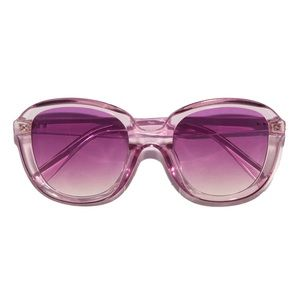 Retro 70s Disco Ombré Lavender Crystal Sunglasses